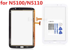 Wholesale Wifi Fit - Test Passed Touch Screen Digitizer Glass Fit for Samsung Galaxy Note 8 N5100 N5110 WiFi White Black Free shipping
