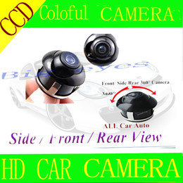 Wholesale Ccd Front View Car Camera - Wholesale-Free shiping CCD HD night vision 360 degree car rear view camera front view side view reversing backup rearview
