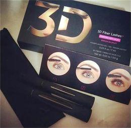 Wholesale Long Lashes Mascara - 2016 hot seller New 1030 version 3D Fiber Lashes Waterproof Double Mascara 3D FIBER LASHES Set Makeup Eyelash 1set free shipping