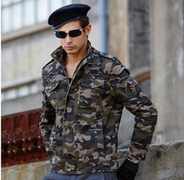 Wholesale Long Military Style Jacket - Men Camouflage Jacket 2016 Air Force One Fashion Brand Mens Military Style Jackets MA1 Bomber Pilot Flight Camo Jacket