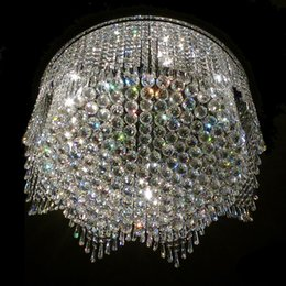 Wholesale Contemporary Crystal Ceiling Light Fixtures - contemporary crystal chandelier ceiling fixtures LED living room lights
