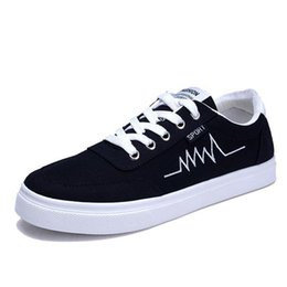 Wholesale Plimsoll White - 2016 Womens Canvas Lace Up Plimsoll Flat Gym Shoes Trainers Sneakers Men's Sneaklos Lo-Top Casual Lace-Up Sneaker lot drop shipping