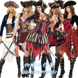 Wholesale Women Clothes Jack - Halloween costume cosplay Caribbean woman pirate suit pirate clothing adult Jack captain costume Female pirate dress up
