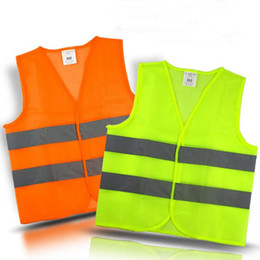 Wholesale Traffic Vests - Safety Security Visibility Reflective Vest Warning Green Orange Safety Vest Construction Safety Working Vest Traffic Vests OOA2970