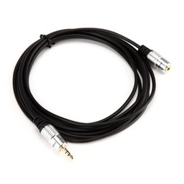 Wholesale Dc Female Wire - DC 3.5mm 10FT Premium 1 8 Male to Female Extension Audio OFC Cable Wire Ipod 2016