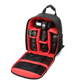 Wholesale Slr Digital Photo Camera - New Camera bag backpack Photo DSLR Camera Bag Digital SLR Backpack & Rain Cover Black