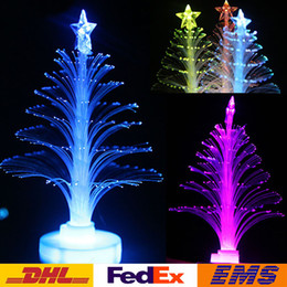 Fiber optic tree en Ligne-Coloré LED Arbre De Noël Fiber Optique Veilleuse Arbre De Noël Lampe Lumière Vacances Fête Éclairage Décoration Enfants De Noël Cadeau WX-C25