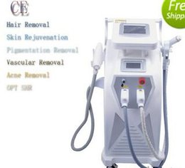 Wholesale E Light Hair Removal - Hot Selling Fast Effective Professional YAG laser + E-LIGHT IPL + RF skin Rejuvenatiion Face Care hair removal beauty machine