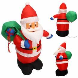 Wholesale Inflatable Outdoor Christmas Decorations - wholesale Mayitr 1.2m Inflatable Christmas Santa Claus With Hang Bag Outdoor Decoration Xmas Party DIY Decor With Charger & Adapter
