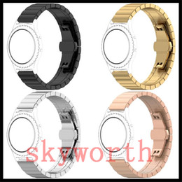 Wholesale Solid Metal Bracelets - Solid Metal Band For Samsung Gear S2 S3 Classic Wristband Stainless Steel Watch Bracelet Mesh Strap Replacement With Tools