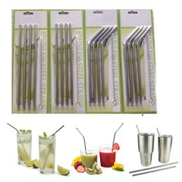 Wholesale 4 Set Stainless Steel Straws and Cleaning Brushes for RTIC Drinks Cup Brush OZ OZ Avaiable Drinking Straw
