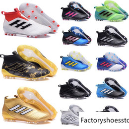 Wholesale Hard Grind - Ace 17+ Purecontrol Primeknit Outdoor Soccer Cleats Firm Ground Cleats Trainers Boost FG NSG ACE 17 Mens Football Boots Soccer Shoes