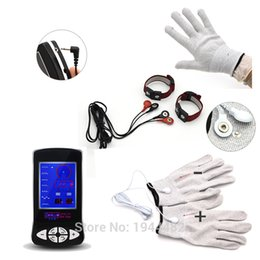 Wholesale Electrical Sex Toys - Electric Shock Gloves, Penis Electro Shock Stretcher Bands Straps, Male Cock Ring Electrical Stimulation Sex Toy For Men Product