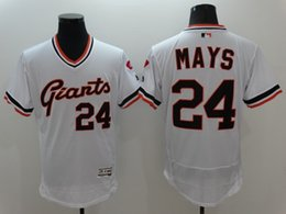 Wholesale Cheap Uniform Shirts For Men - 2016 san francisco giants #24 willie MAYS Baseball Jerseys Throwback Flex base Shirts Cheap Baseball Wears Uniform for Men Stitched