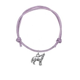 Wholesale wolf charms for bracelets - Fashion Adjustable Wax Cord Bracelet Joint Antique Silver Plated 3D Howling Wolf Charm Bracelet for Gift Jewelry