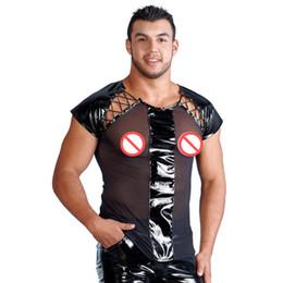 Футболка мужчины Sexy DS ночной клуб костюмы прозрачная сетка футболки топы Майка сексуальное женское белье мужская кожаный костюм экзотические танки от