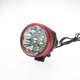 Wholesale Bike C - Bike Light 9*C-XM-L T6 9T6 Bicycle Light 3 Mode 13800LM+ High Power 6x18650 8800mAh Battery Pack