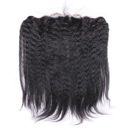 Wholesale Yaki Hair Prices - New Arrival Kinky Straight Lace Frontal 13x4 Inch Mongolian Hair Italian Coarse Yaki Ear To Ear Full Lace Frontals Cheap Price
