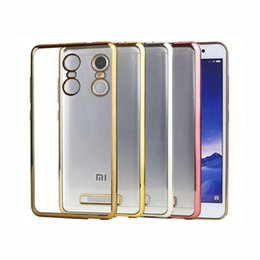 Wholesale Xiaomi Crystal - Luxury Ultra Thin Clear Crystal Rubber Plating Electroplating TPU Soft Mobile Phone Case For Xiaomi Redmi 2 3 Note 2 3 4