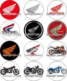 Bottone a scatto di fascino di vetro di punk del motociclo di trasporto libero di fascino Popper per la fabbricazione di gioielli di buona qualità 12pcs / lot Gl389 di Snap da