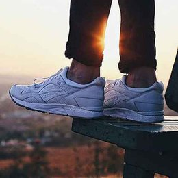 Wholesale Rubber Cement Plastic - Mens And Womens GEL LYTE V WHITE CEMENT Shoes Fashion Casual ShoesM