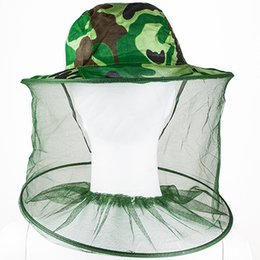 Wholesale Protector Hat - Wholesale-2016 new Mosquito Bug Insect Bee Resistance Sun Net Mesh Head Face Protectors Hat Cap for Men Women 1MZN 5W7U 7F1E 9C7Y