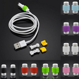 Wholesale Protection Data - USB Lightning Data Charger Cable Saver Protector For iPhone 5 5s 6 6S Plus X 8 Headset Protection Earphone Wire Cord Protective