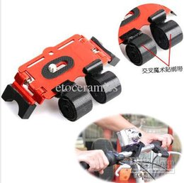 Wholesale Camera Road Video - 50pcs Lots Bicycle Bike Metal Action Mount Road Video Tripod For Camera 4 Colors