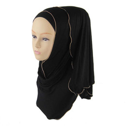 Wholesale Hijab Cotton Shawl - Fashion Oversized Neck Women 2016 Zipper Jersey Hijab Muslim Islamic Viscose Shawl 170*50cm phwj40