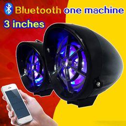 Wholesale Car Speakers Inch - 3 inch motorcycle Bluetooth audio one machine electric car speaker MP3 modified car speaker 12V waterproof