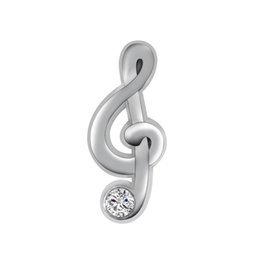 Wholesale 20pcs Silver Musical Notes with Rhinestone Floating Charms fit Glass Living Memory lockets
