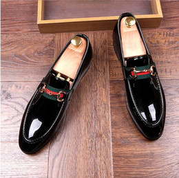 Wholesale Glitter Wedding Heels - 2017 New Style Brand Fashion Soft Moccasins Men Loafers High Quality Genuine Leather Shoes Men Flats Gommino Driving Shoes size 38-43 XX7