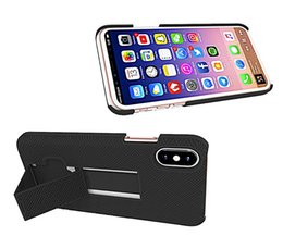 Wholesale Cheap Iphone Cases Free Shipping - Newest Cheap Kickstand Straw Mat Stripe For Iphone 8 Case PC+Silicone 2In 1 Armor Shockproof Phone Case With Opp Package DHL Free Shipping
