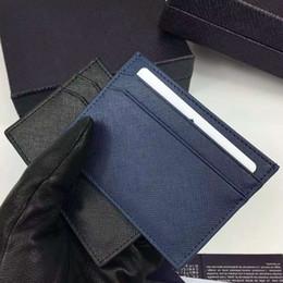 détenteur de chèques d'entreprise Promotion 2016 nouvelle mode de haute qualité véritable titulaire de la carte de crédit pour hommes en cuir de vachette en cuir luxe célèbre marque hommes carte d'identité costume portefeuilles 2MC149