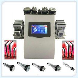 Wholesale Strong Slimming Cavitation Machine - Newest Effective Strong 40k Ultrasonic Cavitation 8 Pads LLLT lipo Laser Slimming Machine Vacuum RF Skin Care Salon Spa Use Equipment