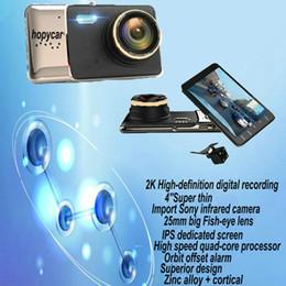 Wholesale Display Screen Parking Sensor - Car Camera DVR Full HD 1080P WDR Parking Monitor Night Vision Car DVR 4 Inch Screen Driving Recording