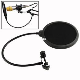 Wholesale Wind Screen Mount - Hotsale Double Layer Studio Microphone Mic Wind Screen Pop Filter  Swivel Mount   Mask Shied For Speaking Recording A5