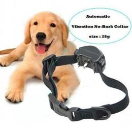 Wholesale Dog Two Collar - Stop Barking Training Collar Auto Vibration no-bark-collar Pet Dog J00003 OST