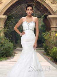 Wholesale Tailor Mermaid Dress - Stylish Mermaid Trumpet Lace Wedding Dresses 2016 Beaded Sweetheart Vintage Bridal Gowns Plus size Tailored Vestidos De Noiva free shipping