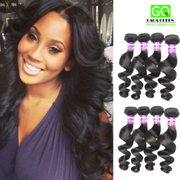 Wholesale Cheap Quality Malaysian Hair - Great Quality 8A Brazilian Virgin Hair Dyeable Malaysian Peruvian Mongolian Loose Wave Human Hair Weaves Hair Extensions 3pcs lot Cheap