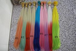 extensión de cabello de dos tonos para niñas Paquete de cabello prebond de 16 pulgadas Ombre Color Synthetic hair Product con herramientas gratuitas desde fabricantes