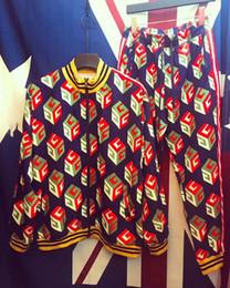 Wholesale Man Zip Slim - A2018 Perfect Men's Set Sweater Men's Flower Print Color Mixed Lifestyle Harajuku Set Sweater Men's Medusa Set Sweater M-2XL
