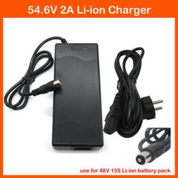 Wholesale Port Bike - High quality 48V 15AH 20AH Lithium Charger 48V 2A 54.6V 2A li-ion Charger RCA Port For 13S 48V Electric bike Battery
