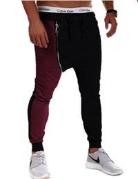 Wholesale Harem Style - Wholesale-Hot sale 2016 fashion Style Mens Gym Joggers Sweatpants Sport Harem Pants Men Loose Jogging Trousers