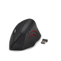 Wholesale Nano Computers - Wholesale- TeckNet 2016 new 2.4G Nano Vertical Ergonomic Optical Mouse 3 Adjustable DPI Levels 2000 1500 1000dPi 6 Buttons for pc computer