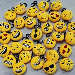 Emoji QQ Expression Plush Key Rings Cartoon Action Game Figure Pendant Keychain Cell Mobile Phone Stuffed Keychain Toys Gifts 6-10cm WX-K48 Coupons