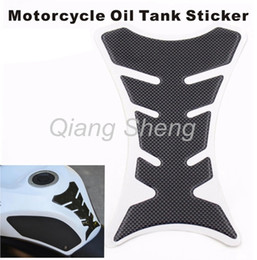 Wholesale Sticker Gas Tank Motorcycle - china post Universal 3D Motorcycle Gas Oil Fuel Tank Pad Protector Decal Sticker Gloss Carbon Fiber