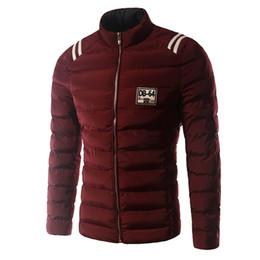 Wholesale Down Coat Men S Lightweight - Fall-New Arrival Autumn Winter Men Overcoat Jacket Fashion Casual Lightweight Men Duck Coat Solid Striped Men Parkas Jacket 14DT25