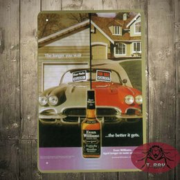 Wholesale Whisky Bar Signs - Evan williams Vintage Metal sign House Restaurant Bar Whisky Poster Metal paintings A-144 160909#