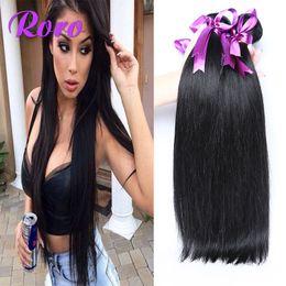 Wholesale Ms Lula Hair - 5a ms lula brazilian virgin hair weave straight hair weaves 100% human hair extensions 3pcs lot same mixed length 8-28inch free shipping